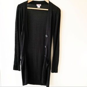 Aritzia x Kenzie Girl Long Knit Cardigan Black